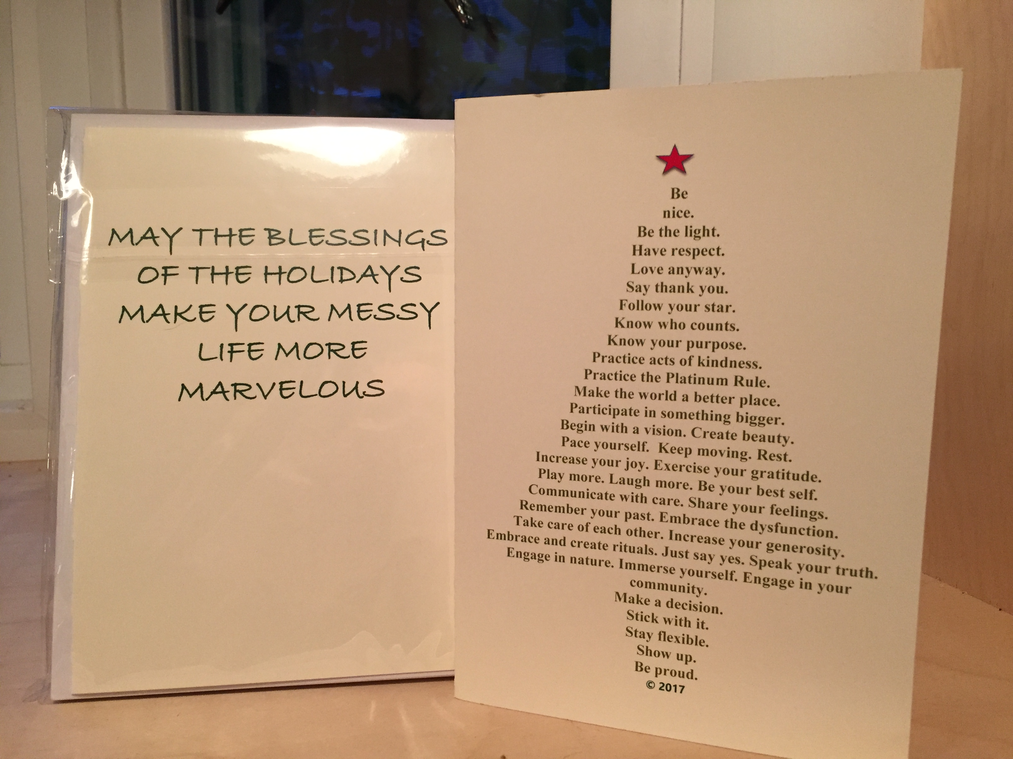 Christmas Cards Life Is Messy Life Is Marvelous